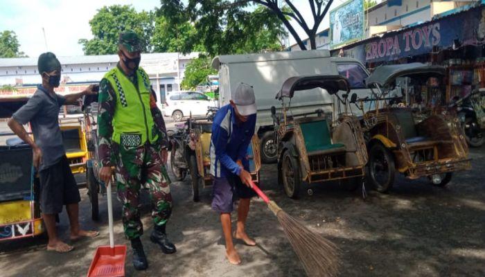 Operasi Giat Terpadu Tim Pendisiplinan Pencegahan Penularan Corona Virus Dease (Covid-19)  di Kecamatan Kebumen, Kutowinangun dan Adimulyo