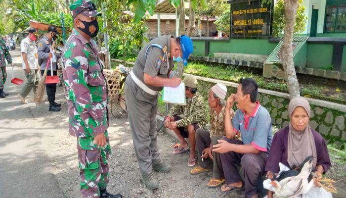 Operasi Giat Terpadu Tim Pendisiplinan Pencegahan Penularan Corona Virus Dease (Covid-19)  di Kecamatan Gombong, Sempor, Kuwarasan, Kutowinangun dan Ambal