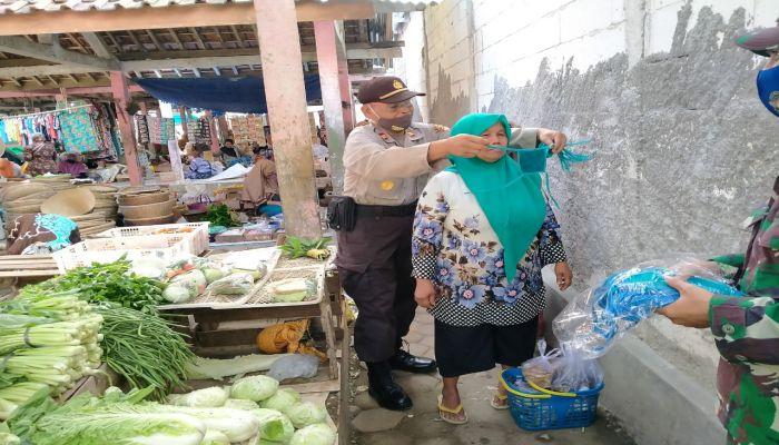 Sidak Pendisiplinan Protokoler Kesehatan di Pasar Tugusari