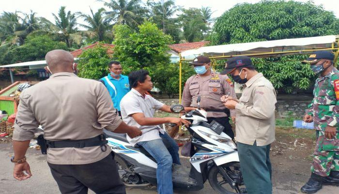 Operasi Giat Terpadu Tim Pendisiplinan Pencegahan Penularan Corona Virus Dease (Covid-19)  di Kecamatan Kebumen, Karanganyar dan Ambal