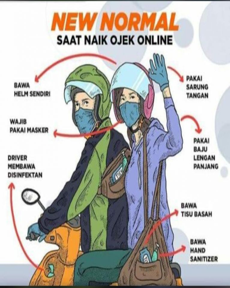 New Normal Saat Naik Ojek Online